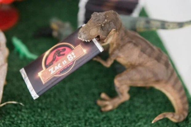 Boys Jurassic Park Birthday Party Candy Bar Wrrappers