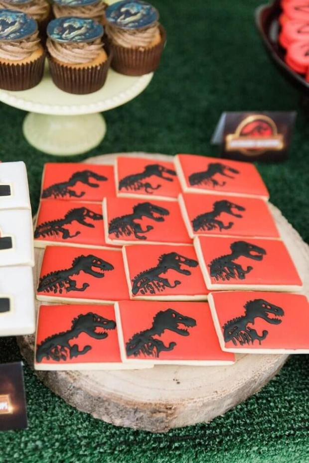 Boys Jurassic Park Party Cookies