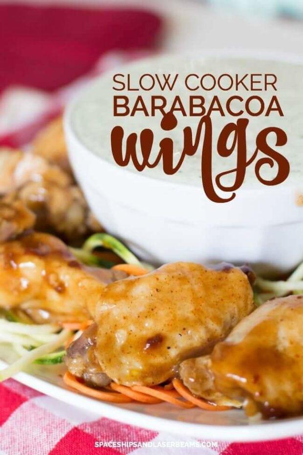 Slow Cooker Barabacoa Chicken Wings