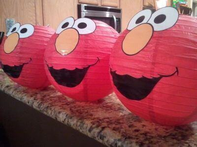 Elmo Paper Lanterns
