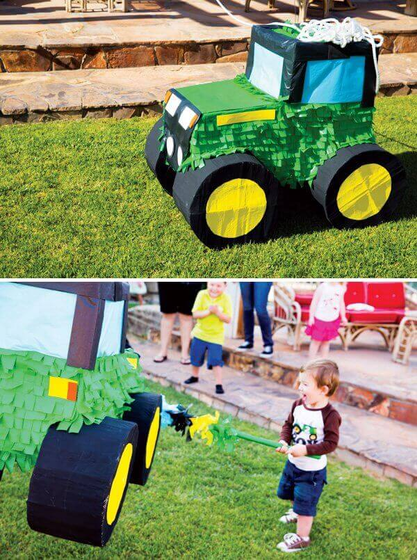 Tractor Birthday Party Pinata