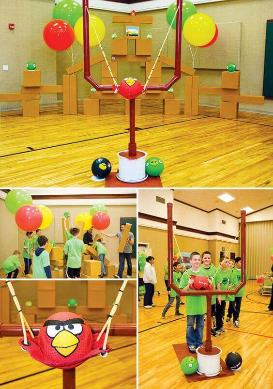 DIY Live Action Angry Birds Game