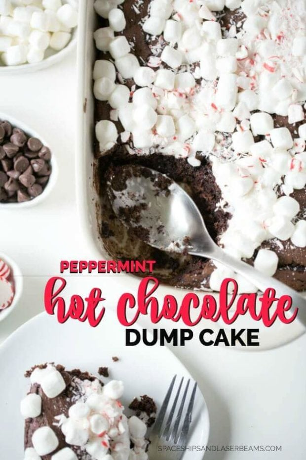 Peppermint Hot Chocolate Dump Cake