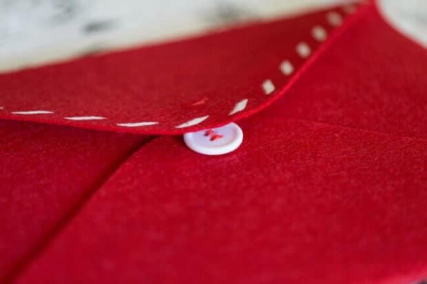 Felt Envelope for Santa Claus