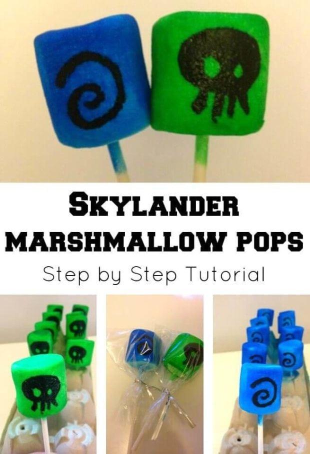 Skylanders Marshmallow Pops
