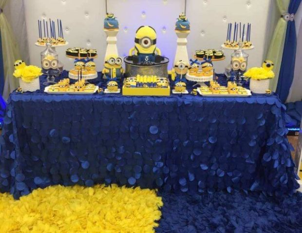 This Minion Party Dessert Table Includes An Array Of These Cute Despicable Me Characters