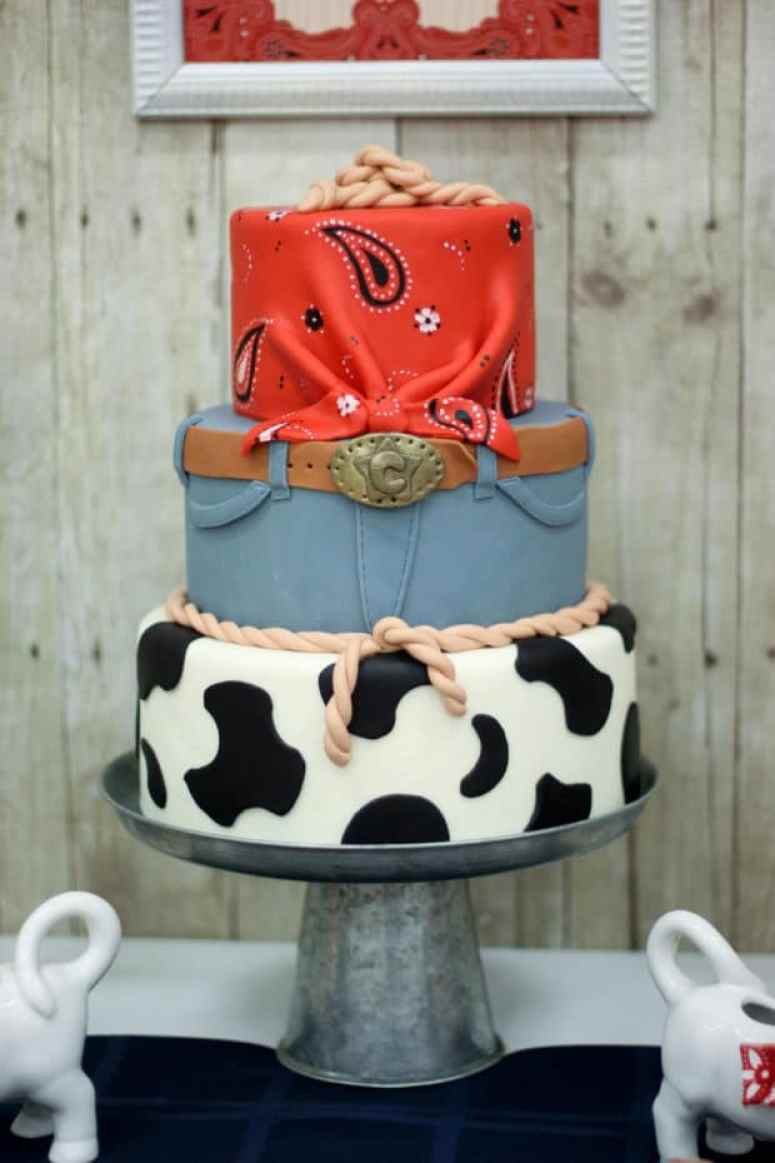 Boy's Western Themed Birthday Cake