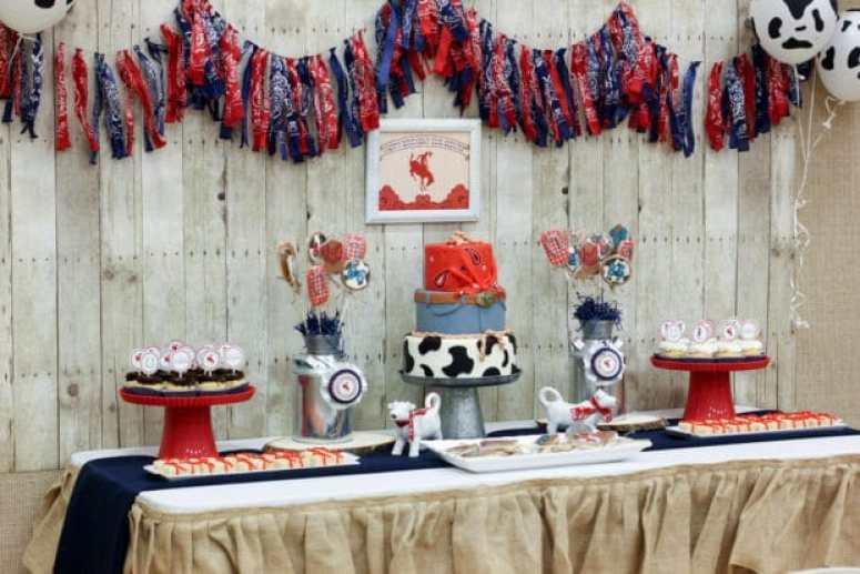 Western Birthday Party Dessert Table
