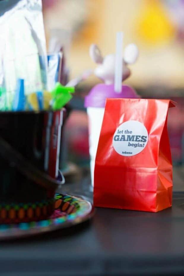 Chuck E Cheese Custom Token Bag