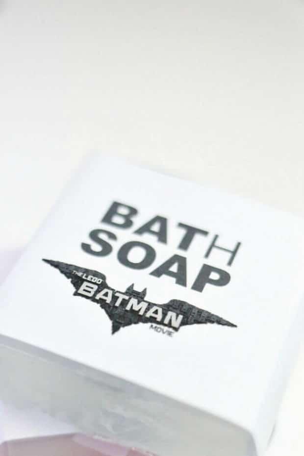 Homemade DIY Batman LEGO Soap