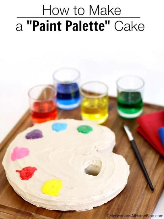 Paint Pallette Cake
