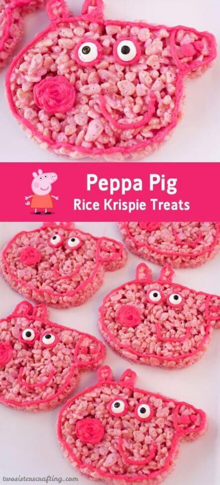 Peppa Pig Rice Krispy Treats