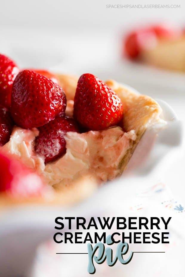 Strawberry Cream Cheese Pie Sliced