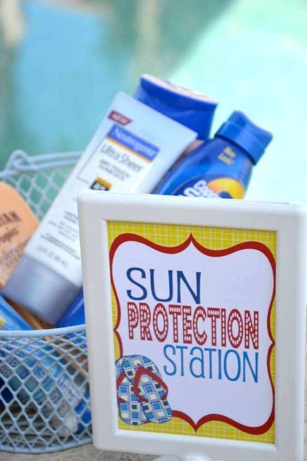 Sun Protection Station