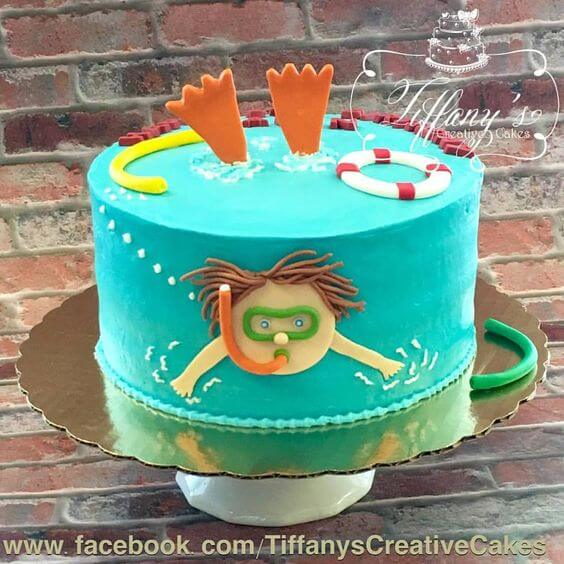 Swimming Pool Party Cake