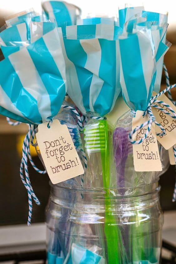 Toothbrush Slumber Party Favors
