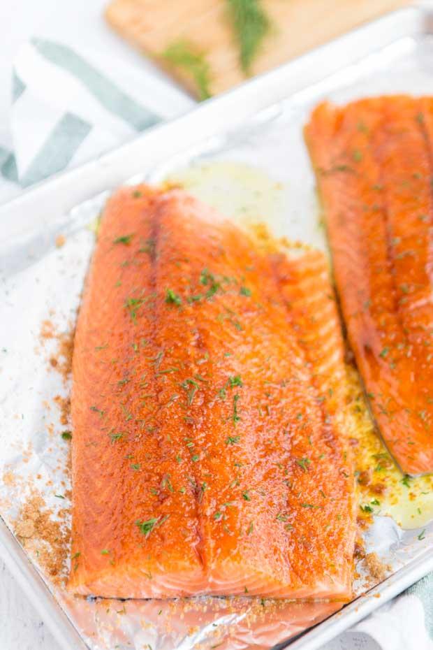 Brown Sugar Rub Baked Salmon