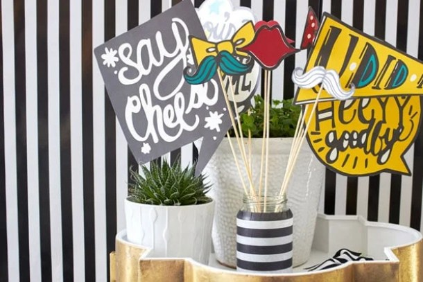 Graduation Photo Booth Props by Evite | 19 Graduation Party Decoration Ideas
