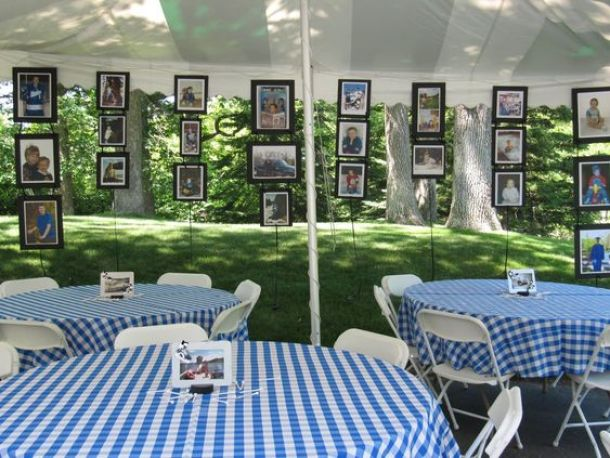 Hanging Graduation Decorations from 3 Sisters and A Mom | 19 Graduation Party Decoration Ideas