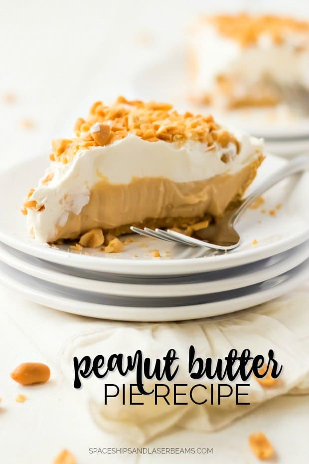 slice of peanut butter pie on white plates