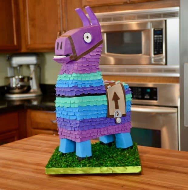 Loot Llama Fortnite Birthday Cake