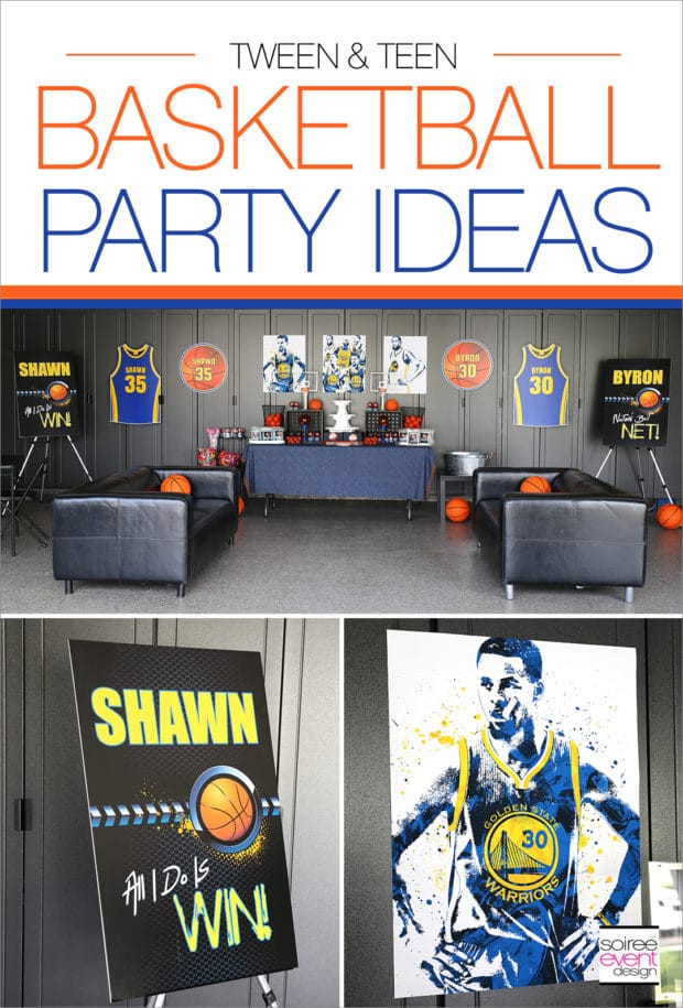 Teen Basketball Party Ideas from Soiree Event Design | Teen Birthday Party Ideas that are AWESOME!