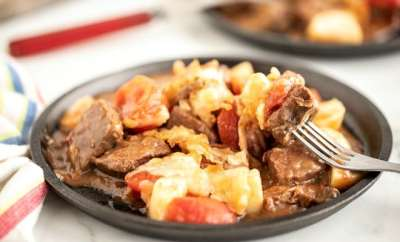 beef stew on a plate