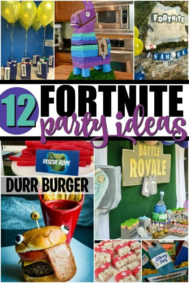 photo collage of fortnite party ideas