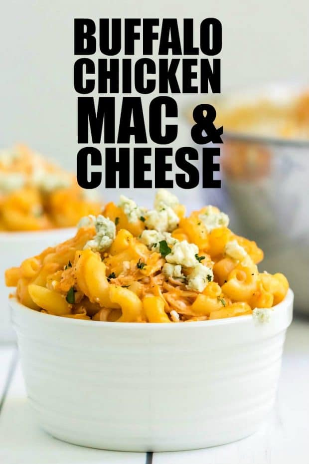 BOWL OF BUFFALO CHICKEN MAC AND CHEESE
