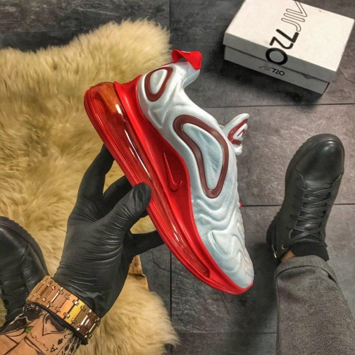 Женские кроссовки Nike Air Max 720 White Red • Space Shop UA