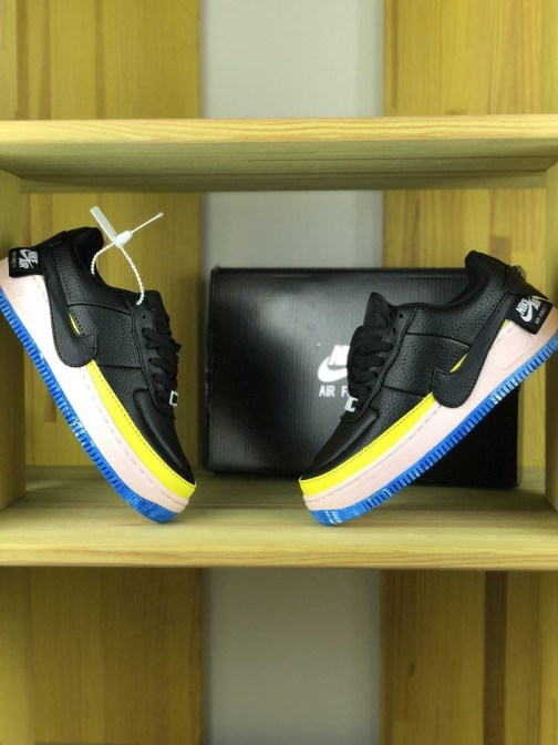 Женские кроссовки Nike Air Force 1 Jester XX Black Sonic Yellow • Space Shop UA