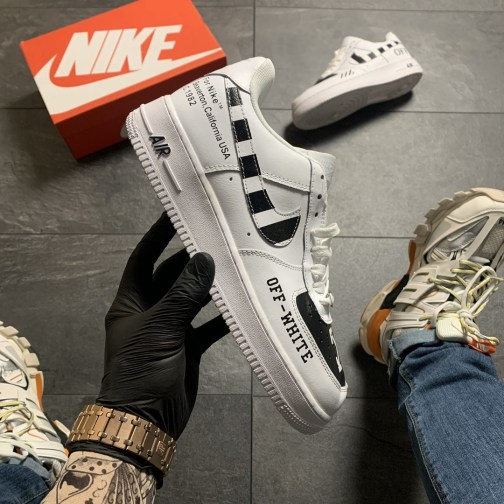 Мужские кроссовки Off-White x Nike Air Force 1 Low White • Space Shop UA