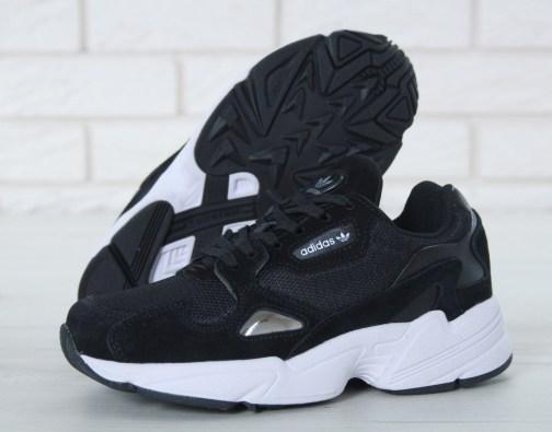 Кроссовки унисекс Adidas Falcon Black White • Space Shop UA
