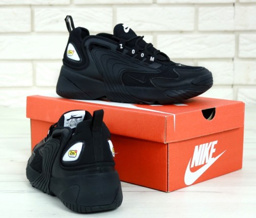 Кроссовки мужские Nike Zoom 2k Triple Black • Space Shop UA