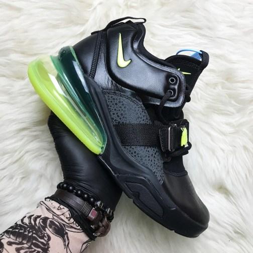 Мужские кроссовки Nike Air Force 270 Black Green • Space Shop UA