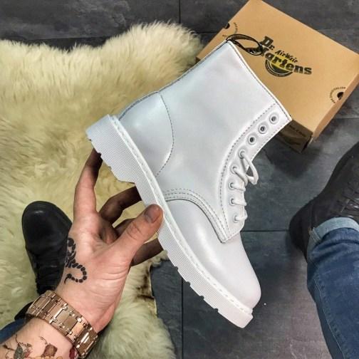 Женские зимние ботинки Dr Martens 1461 Full White Fur • Space Shop UA