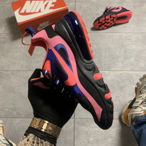 Кроссовки женские Nike Air Max 270 React Black Pink • Space Shop UA