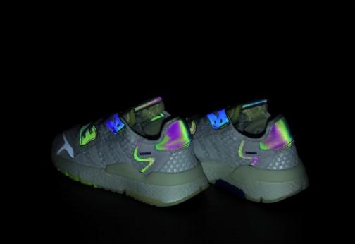 Мужские кроссовки Adidas Nite Jogger White Neon • Space Shop UA