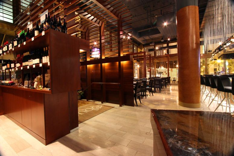 View of the retail area, entry and dining room from the cash wrap.