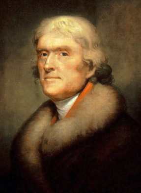 Thomas Jefferson, president during the Three Flags Ceremony and the resulting Lewis & Clark Expedition.