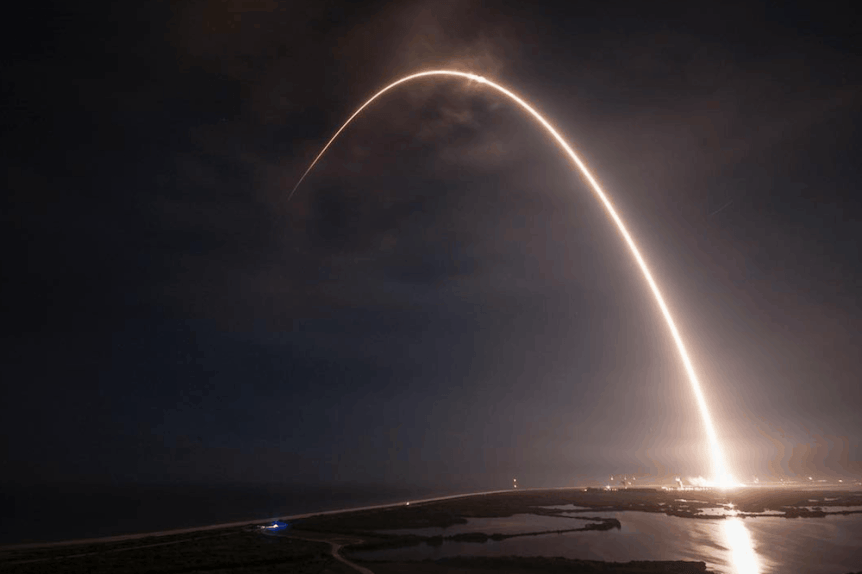 Space Wanderlust Inspiring Instagram Accounts - Photo by SpaceX