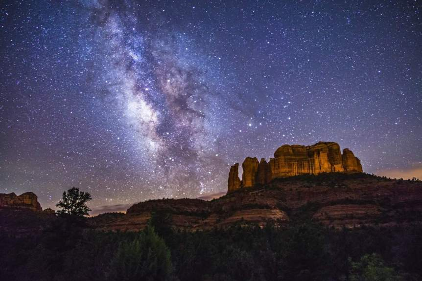 Stargazing near Phoenix - Cathedral Rock in Sedona