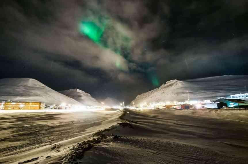 Northern Lights in Norway - Longyearbygen