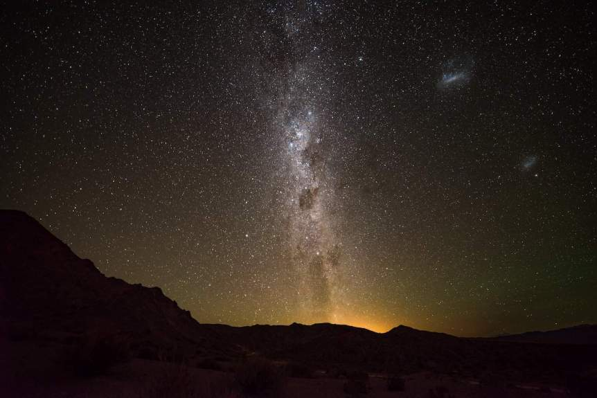 Magellanic Clouds and Milky Way - Diego Rodriguez via Flickr