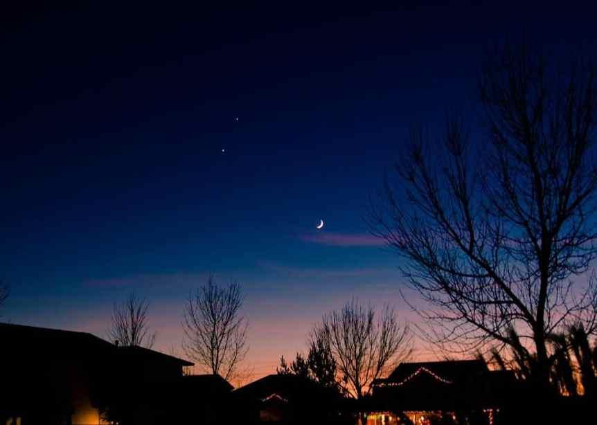 Night Sky in January - Moon, Venus & Jupiter - Don't Know Much... via Flickr