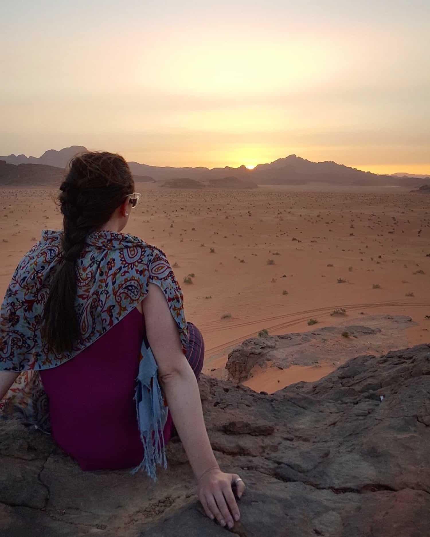 Astronomy tour to Jordan - Sunset in Wadi Rum