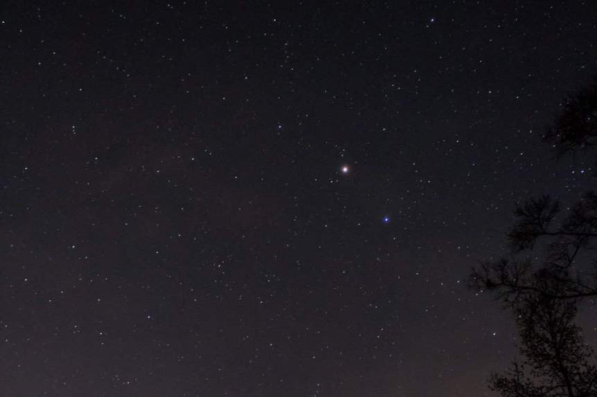 Night Sky in May - Mars, Saturn, Ceres - Neal Simpson via Flickr