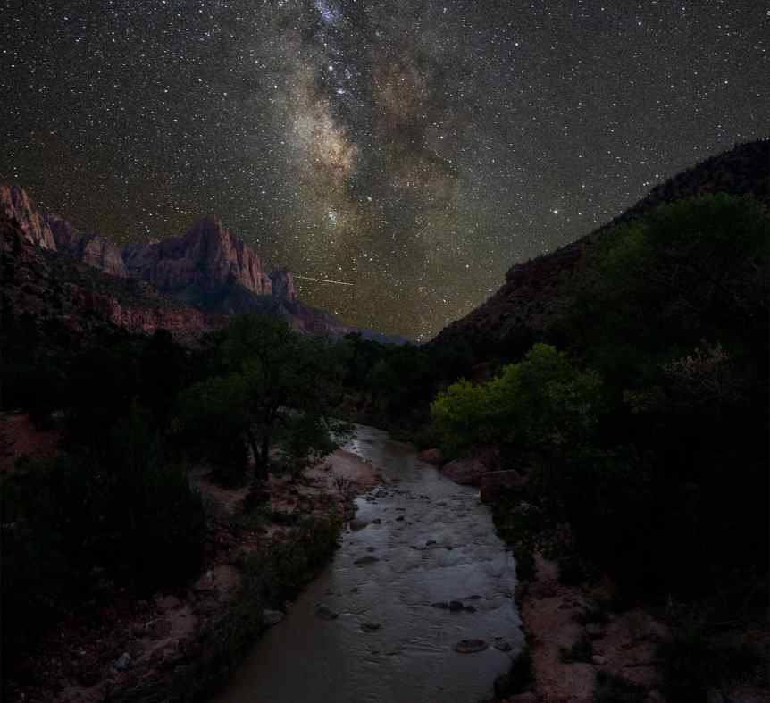 Zion National Park - Milky Way & Virgin River