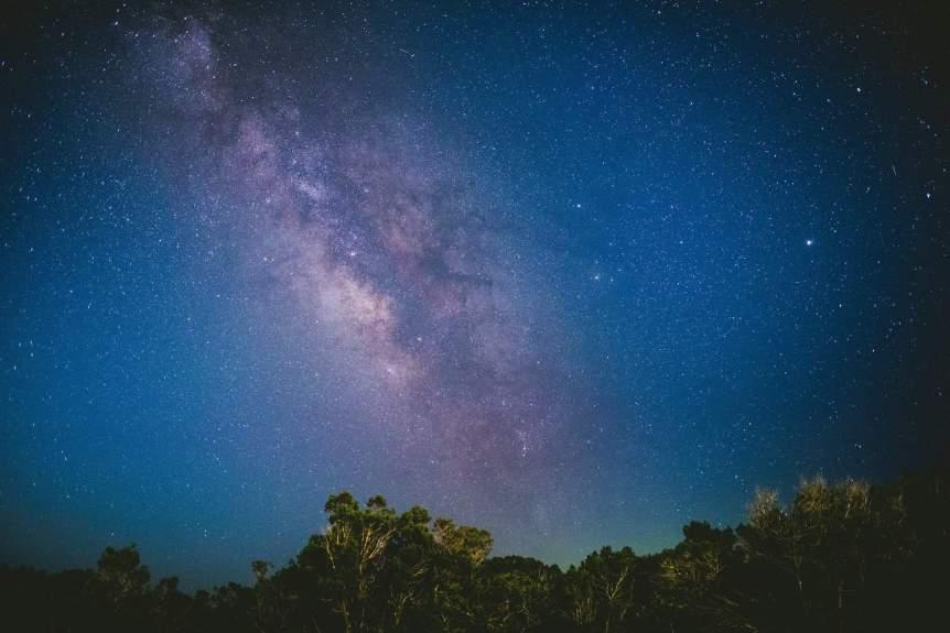Milky Way in a lighter sky