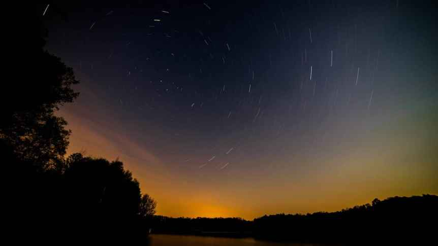 Stargazing near Pittsburgh - Star Trails - Ryan Hallock via Flickr